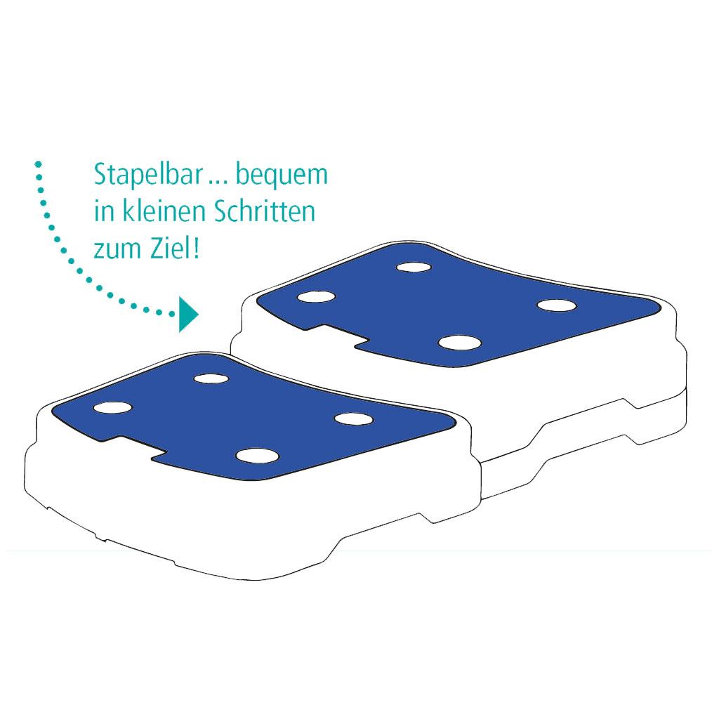 Badewannentrittstufe Pile- praktische Badewannen-Einstiegshilfe- stapelbar- rutschfeste grosse Trittfläche- belastbar bis 120 kg
