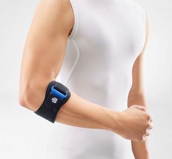 Bauerfeind EpiPoint Schwarz- Universal Stabilorthese zur Behandlung des Tennisarms (schmerzlindernde Epicondylitis-Spange bei gereizten Sehnenansätzen)