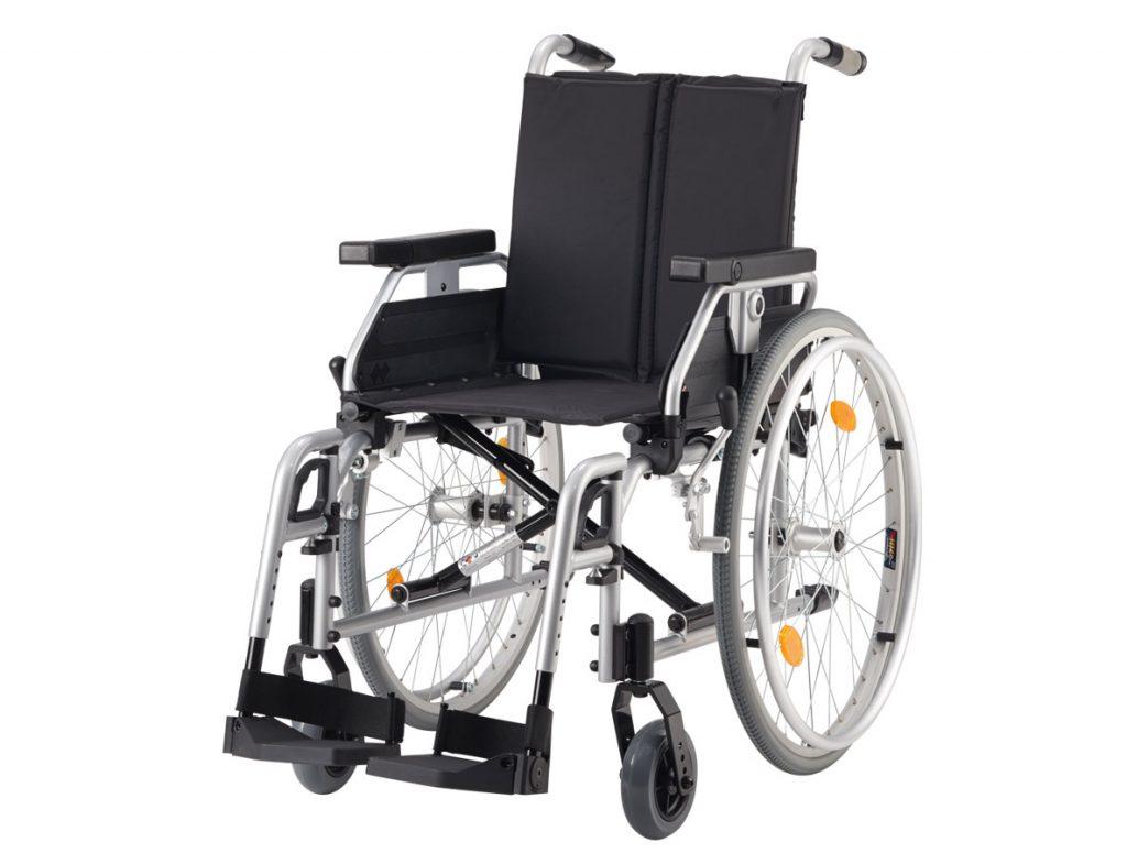 Bischoff und Bischoff Pyro Light Leichtgewicht-Rollstuhl- hochwertig und faltbar- inkl- Anpassrücken- inkl- Kombi-Armlehnen- bis 125 kg-