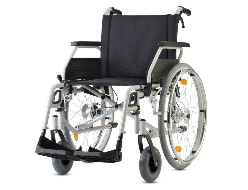 Bischoff und Bischoff S-Eco 300 Standard Rollstuhl- Gute Ausstattung ist hier Standard- bis 125 kg