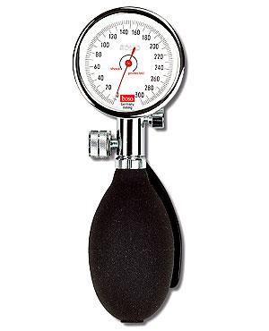 Boso Solid Blutdruckmessgerät- Skala 60mm- mit XL-Klettmanschette 33 - 41 cm- Etui- schwarz
