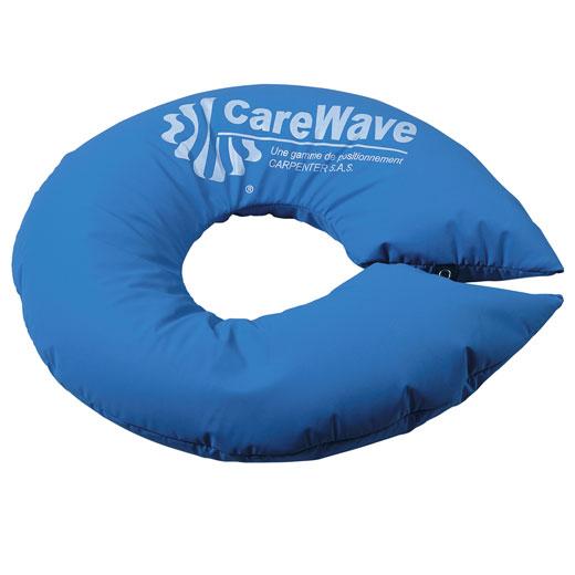 CareWave Ringkissen XL- 130x21 cm- blau- Lagerungskissen zur optimalen Kopflagerung- Lagerungshilfe