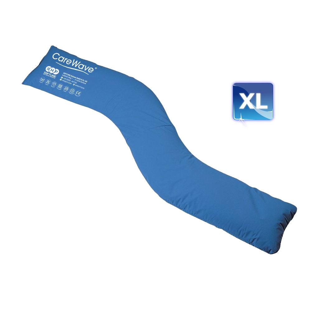 CareWave Seitenlagerungskissen XL- 180 x 31cm- blau- für vielseitige Anwendungen geeignet- Lagerungshilfe zur 30- oder 135- Lagerung- Seitenlage