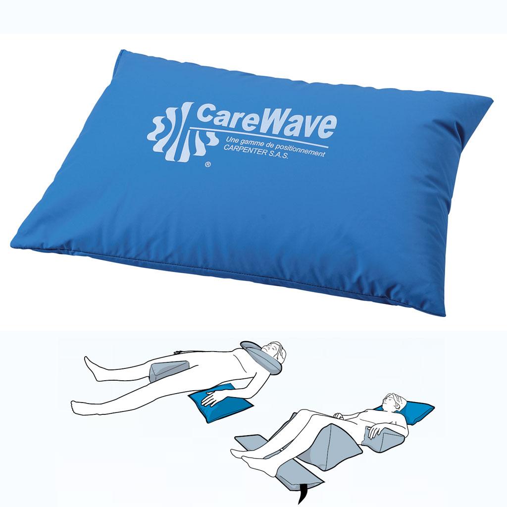 CareWave Universalkissen XL- 60x40 cm- blau- Lagerungshilfe für den universellen Einsatz- bsp- Bein- Kopf- oder Armlagerung