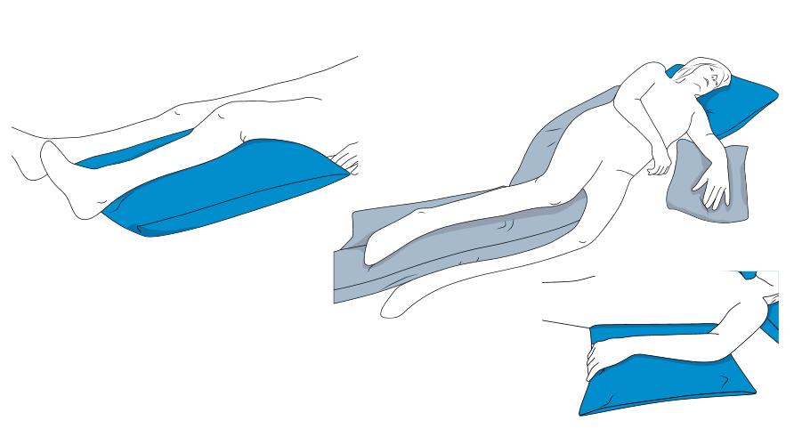 CareWave Universalkissen XXL- 70x50 cm- blau- Lagerungshilfe für den universellen Einsatz- bsp- Bein- Kopf- oder Armlagerung