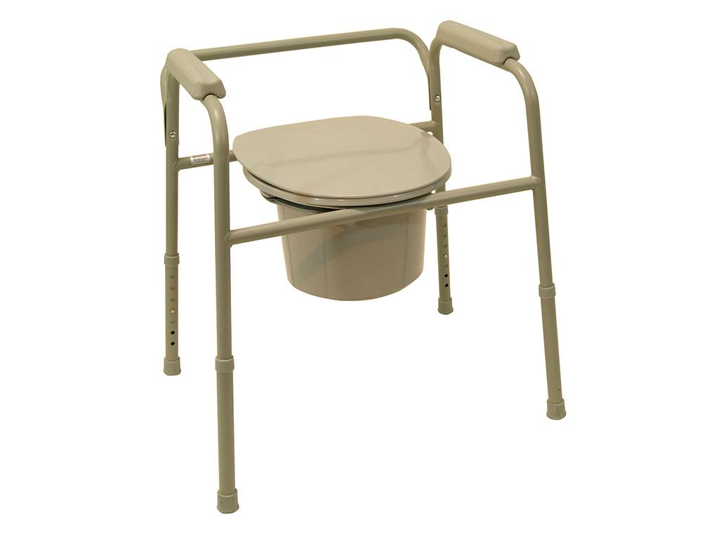 Drive Medical Toilettenstützgestell TSG 130- komfortables WC-Stützgestell bis 130kg belastbar