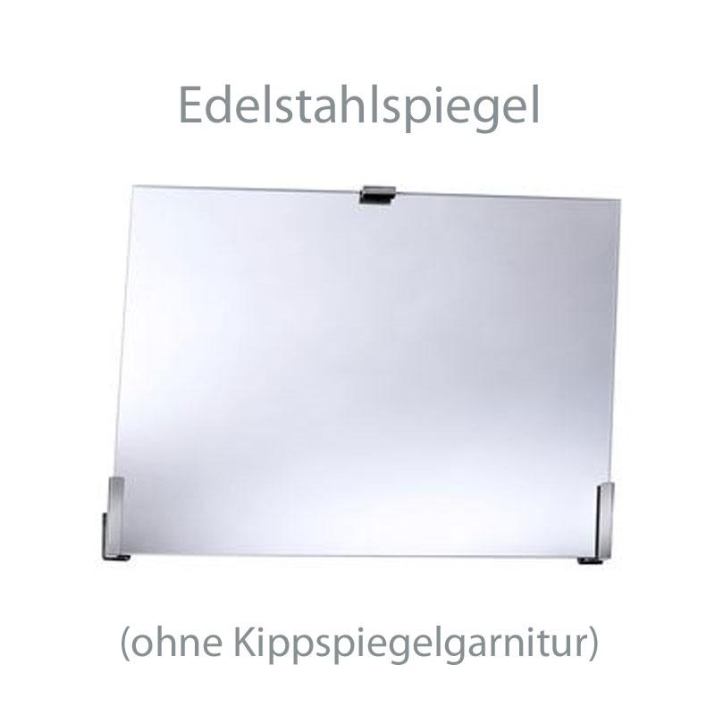 Edelstahlspiegel für Kippspiegelgarnitur- zerrfrei und bruchsicher- 600x500x2mm