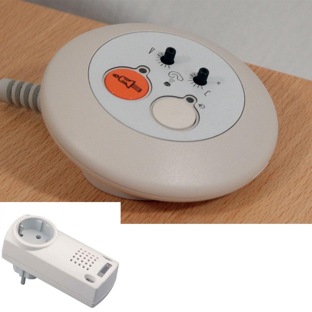Eldat Funk-Pflegeruf mit Geräuschmelder und Steckdosenempfänger- bis 150 m