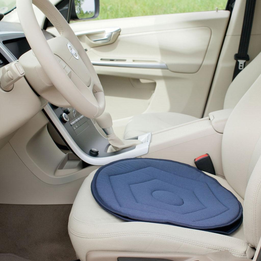 Flexibler Drehsitz- 3-5cm hoch einfach drehen- Drehkissen für Auto oder Stühle