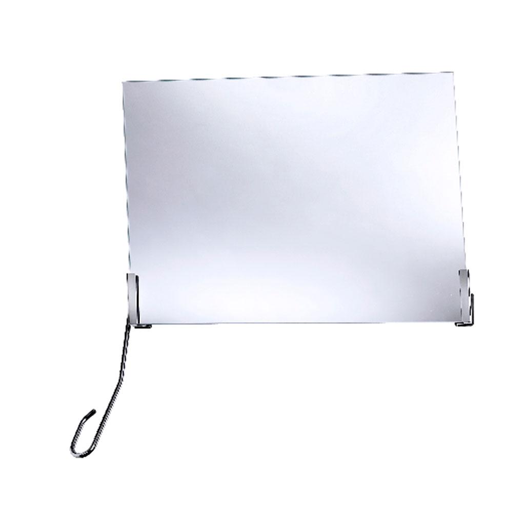FRELU Kippspiegelgarnitur mit Verstellhebel links- Neigungswinkel 35- Standardversion- für Spiegel bis H-50cm und B-60cm geeignet