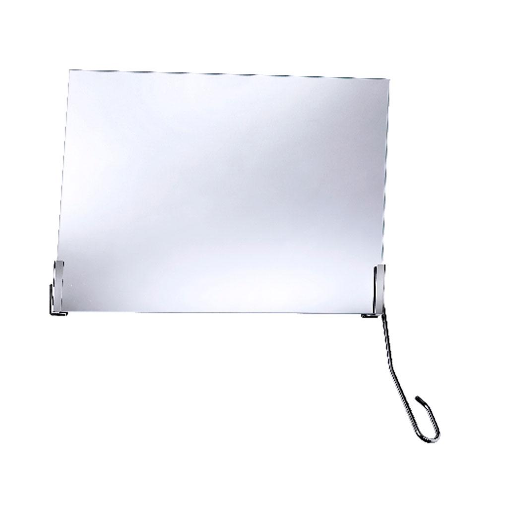 FRELU Kippspiegelgarnitur mit Verstellhebel rechts- Neigungswinkel 35- Standardversion- für Spiegel bis H-50cm und B-60cm geeignet