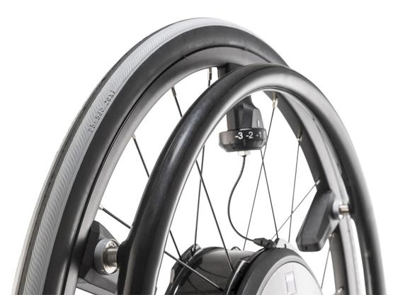 Greifreifen-Beschichtung für Rollstuhlfahrer mit eingeschränkter Handfunktion (Tetra)- für Alber e-motion M25 (nur Bestellung als Aufpreis zusammen mit neuem E-Motion möglich)