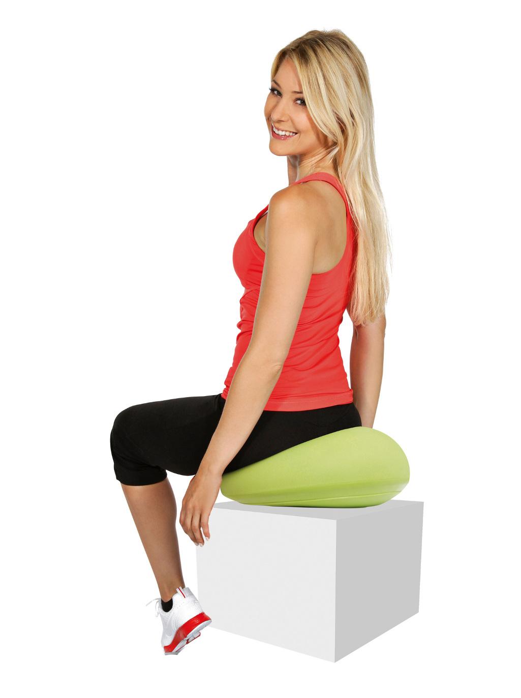 Halfball Plus Kissen luftgefülltes Sitzkissen für Fitnessübungen