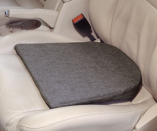 Keilkissen Anti-Rutsch mit Rundung- speziell für Autositze und glatten Flächen ausgelegt- 35-5 x 37 x 5-1 cm- anthrazit
