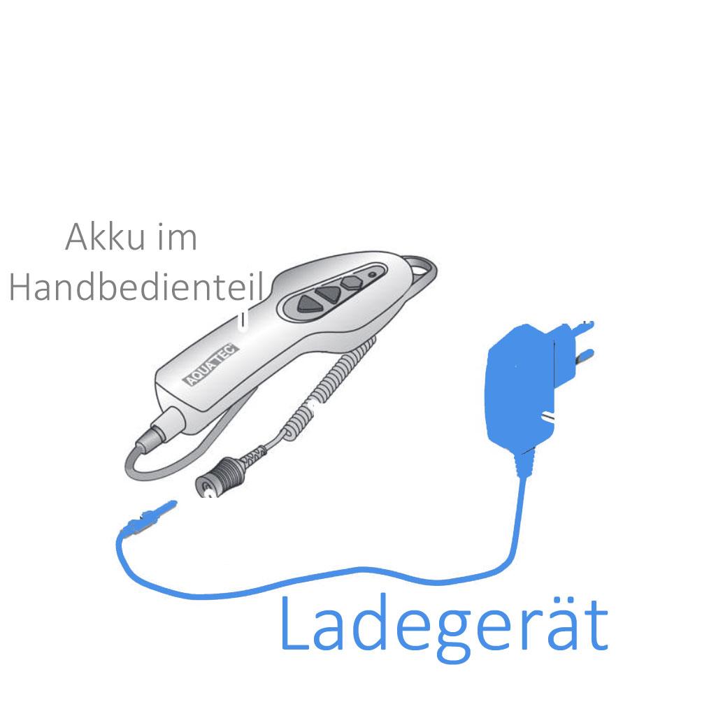 Ladegerät für Aquatec Orca Badewannenlifter (aktuell verlängerte Lieferzeit beachten)