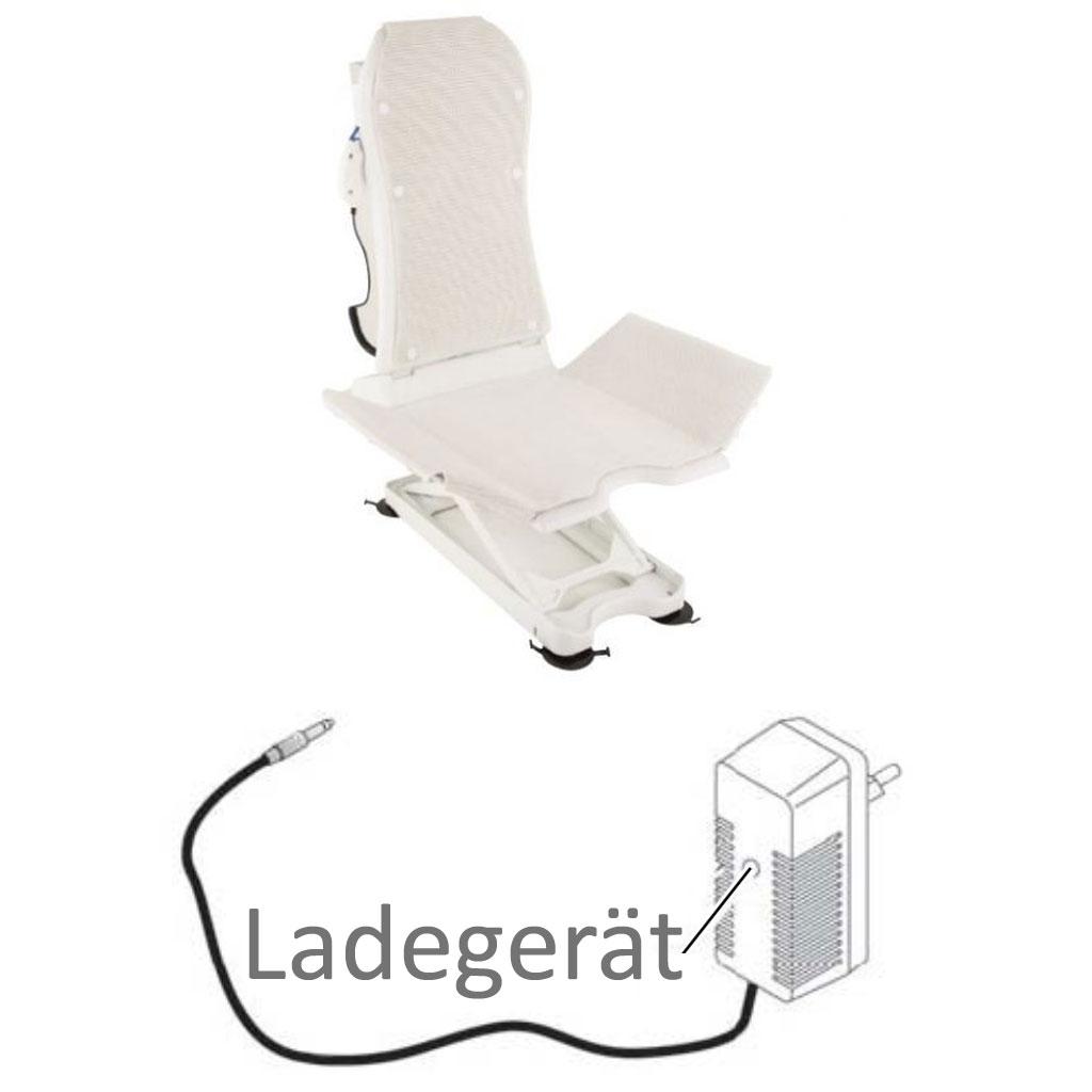 Ladegerät für Invacare Aquatec Badewannenlifter Beluga und Kogia
