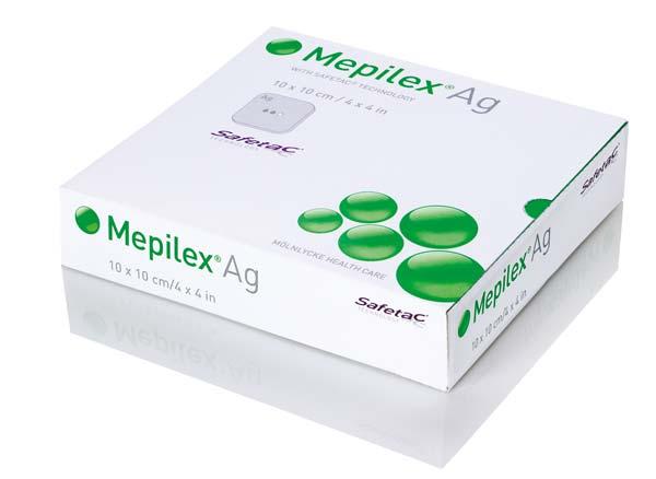 Mepilex AG 10x10cm (P-10) Antimikrobieller Schaumverband
