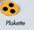 Plakette für Blinde- Farbe: Gelb- Signalisierungshilfsmittel mit 3-Punkten