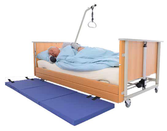 Purzel Fold Sturzmatte- faltbar- inkl- inkoair-Überzug- Bettvorlegematte- Dreiteilig- um Stürze aus dem Bett abzufangen