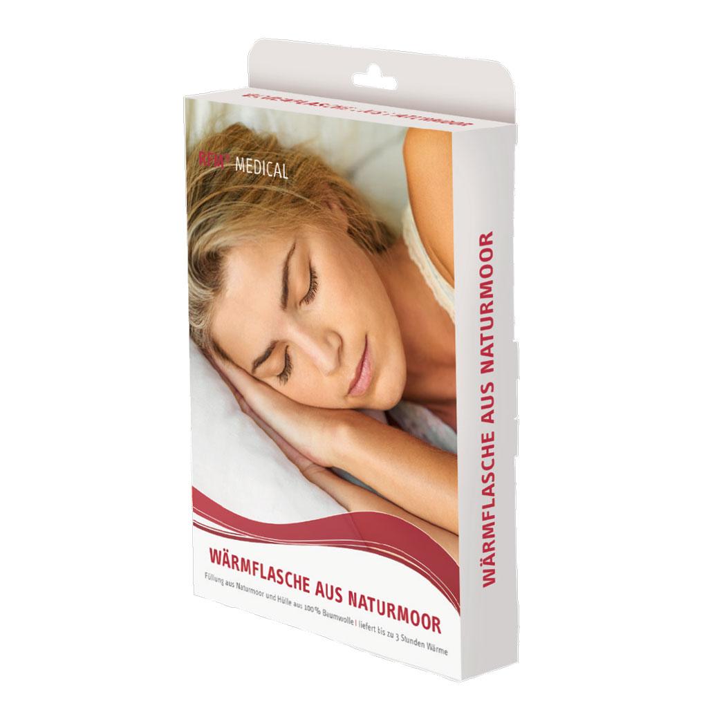 RFM Naturmoor Wärmflasche- Wärme-Anwendung ideal bei entzündlichen Schmerzen- Verspannungen von Muskeln- Gelenkschmerzen und rheumatischen Schmerzen