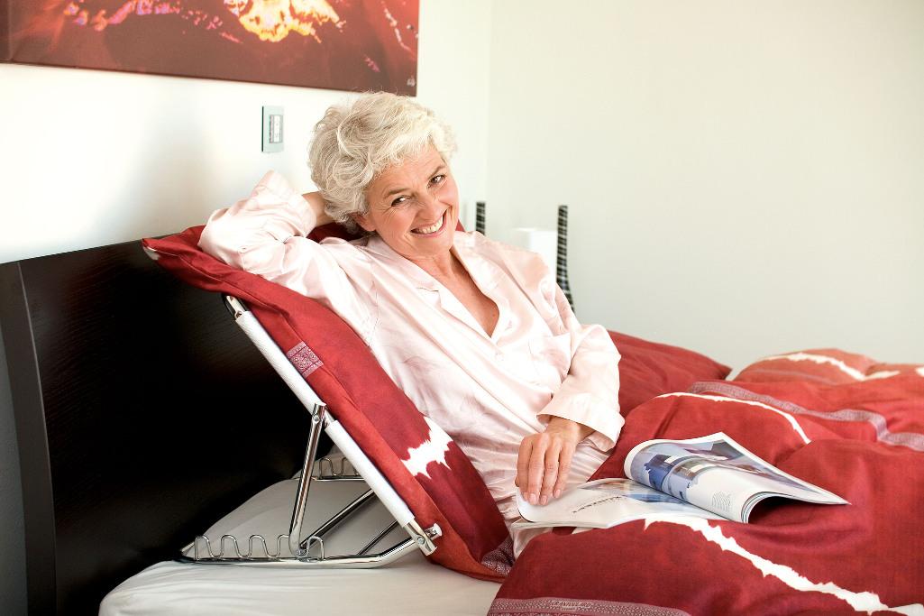 Russka Rückenstütze - bequem im Bett Sitzen lehnen Sie sich entspannt zurück