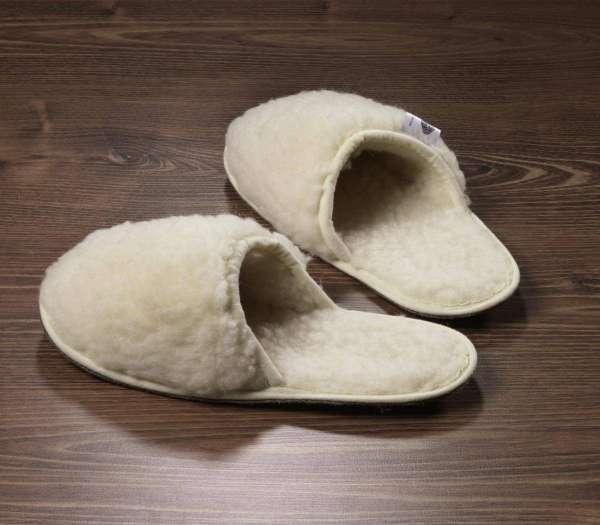 Schurwoll-Pantoffeln 36-38