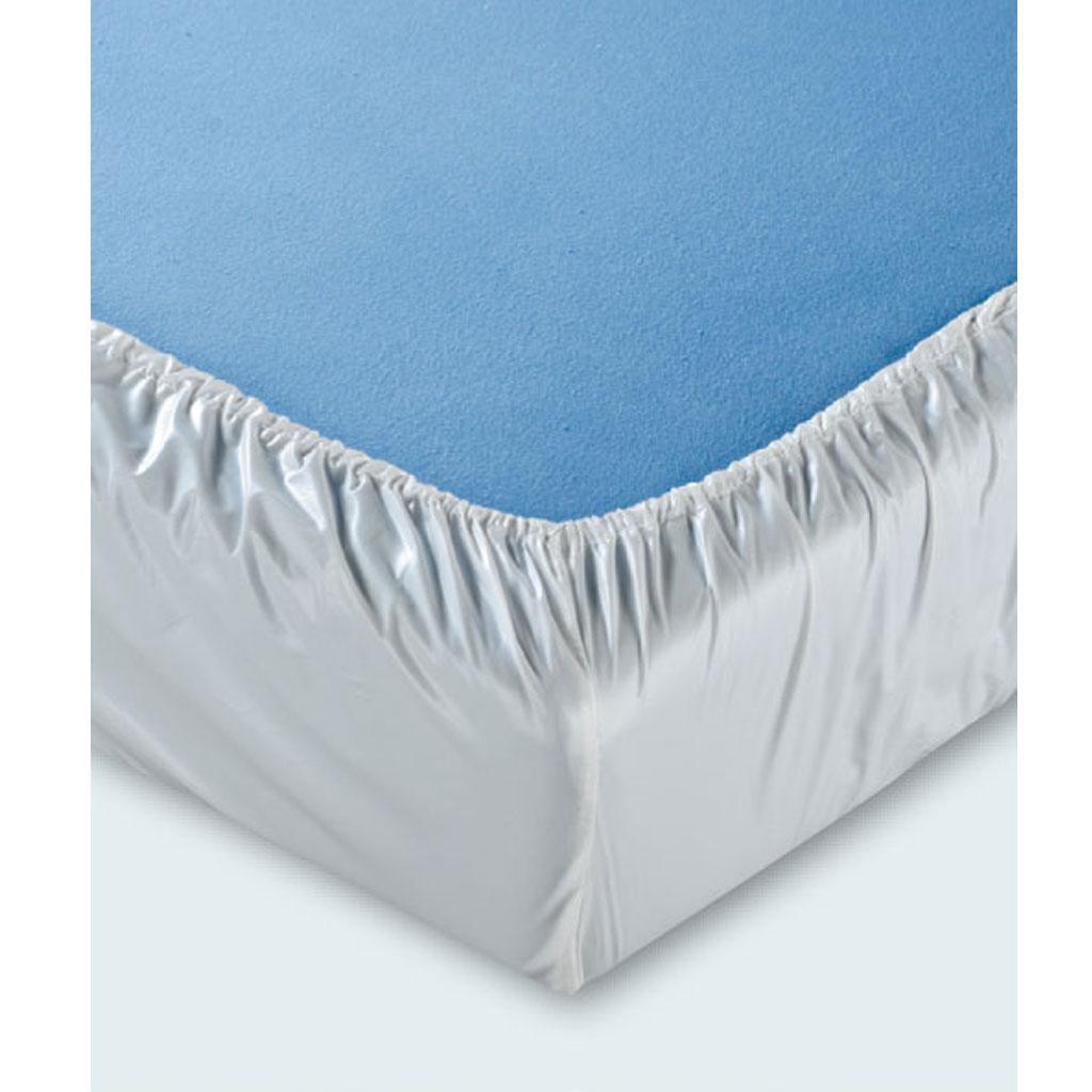 Spannbett-Tuch Jersey- Oberseite 100- Baumwolle- Unterseite beschichtet- wasserundurchlässig- atmungsaktiv- 100x200x24cm- mind- 100x waschbar