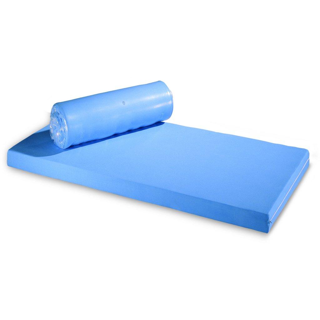 Standard-Pflegematratze RG35 (90x198x12cm) Rollmatratze mit blauem Bezug